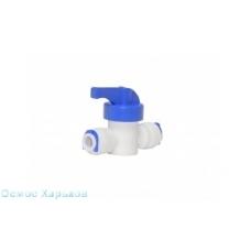"Кран промывки 1/4""QС - 1/4""QС; DCC-025, прямой проточній кран 1/4 дюйма, кран промывки"