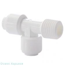 Organic WA-MRT0404 тройник 1/4 к шлангу х 1/4 к шлангу х 1/4 РН, фитинг для корпуса фильтра, постфильтра