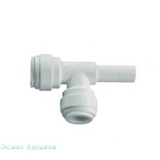 """Тройник Т-QC-QC; 1/4""""Т-1/4""""QC-1/4""""QC; QC-7507, фитинг для корпуса фильтра, постфильтра"""