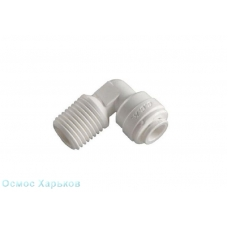 C.C.K. (Raifil) 4ME4 фитинг угловой 1/4'' Т - 1/4'' НР, фитинг для корпуса фильтра, постфильтра