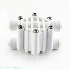 """C.C.K. (Raifil) SV-14W-EZ автопереключатель воды (white automatic shut off valve 1/4"""" FPT), четырехходовой отсечной клапан"""
